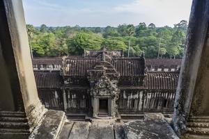 Upper Terrace at Angkor Wat by Michael Nolan