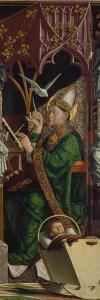 Altarpiece of the Four Latin Doctors, about 1480. Right Panel, Inner Part, St. Ambrose by Michael Pacher