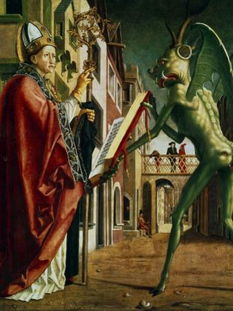 The Devil Presenting St Augustin with the Book of Vices, C1455-1498 by Michael Pacher