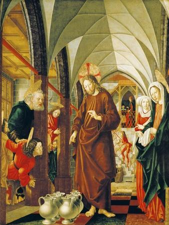 Wedding at Cana, Panel from Stories of Christ, St Wolfgang Altarpiece, 1479-1481