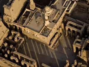 Abu Haggag Mosque Within the Ruins of Luxor Temple by Michael Polzia