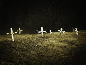 Crosses in a Cemetery by Michael Prince