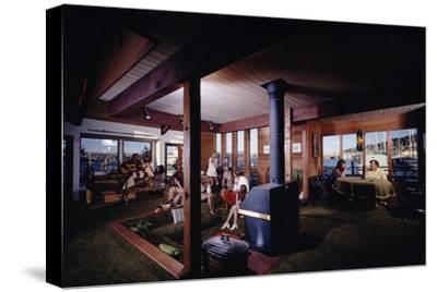 1971: People Attending a Party in the Sunken Living Room of a Floating Home, Sausalito, California