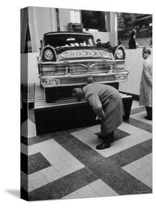 Auto Exhibit in the Soviet Pavilion, at Brussels World's Fair by Michael Rougier