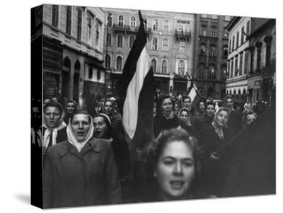 Budapest Rebel Demonstrators, During Revolution Against Soviet-Backed Hungarian Regime