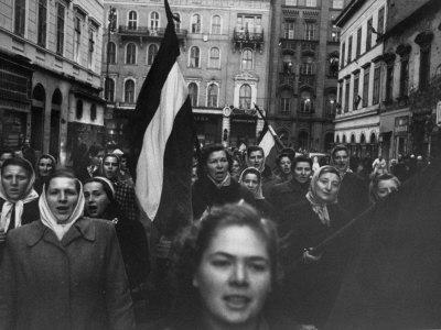 Budapest Rebel Demonstrators, During Revolution Against Soviet-Backed Hungarian Regime