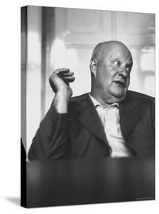 Composer Paul Hindemith Sitting in an Unidentified Office by Michael Rougier