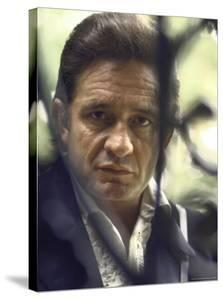 Country/Western Singer Johnny Cash by Michael Rougier