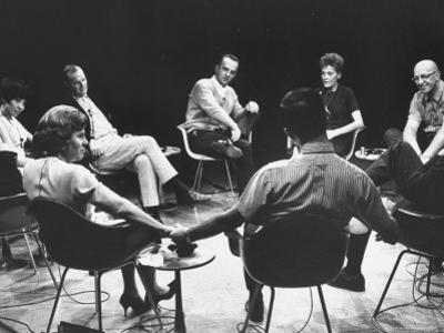 Dr. Carl Rogers During Group Therapy Session