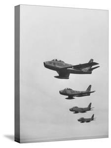 Fifth Air Force in Korea, F-86 Jets in Flight by Michael Rougier