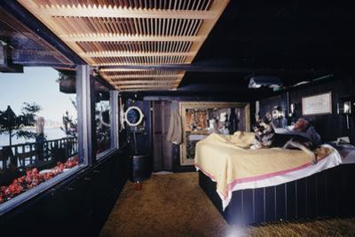 Floating-Home Owner Warren Owen Fonslor in His Bedroom, Sausalito, CA, 1971
