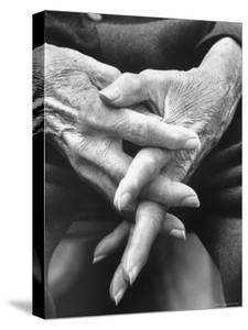 Hands of an Old Man by Michael Rougier