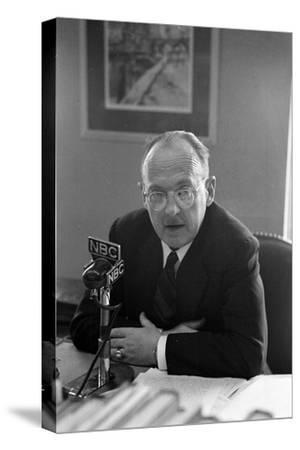 Owen Lattimore's Press Conference in the Ring Building Offices of His Lawyers, Washington D.C.