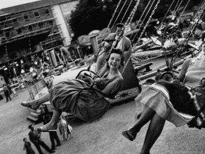 People Riding a Merry Go Round, During the Celebration of Munich's 800th Anniversary