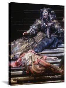 """Singer Leontyne Price in Opera """"Antony and Cleopatra"""" at the Opening of the New Metropolitan Opera by Michael Rougier"""