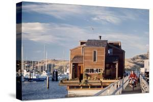 Two-Story, Wooden Floating Home, Sausalito, California, 1971 by Michael Rougier