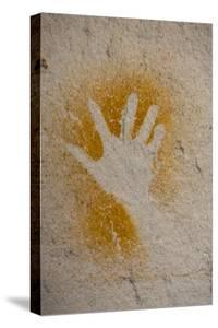 Aboriginal Hand Painting, Carnarvon Gorge, Queensland, Australia, Pacific by Michael Runkel