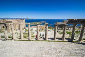 Acropolis of Lindos, Rhodes, Dodecanese Islands, Greek Islands, Greece, Europe by Michael Runkel