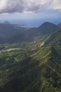 Aerial of Dominica, West Indies, Caribbean, Central America by Michael Runkel