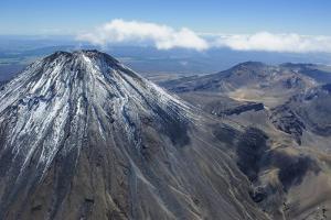 Aerial of Mount Ngauruhoe, Tongariro National Park, North Island, New Zealand, Pacific by Michael Runkel