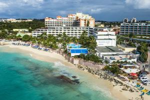 Aerial of Sint Maarten, West Indies, Caribbean, Central America by Michael Runkel