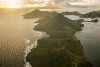 Aerial of St. Kitts, St. Kitts and Nevis, West Indies, Caribbean, Central America by Michael Runkel