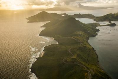 Aerial of St. Kitts, St. Kitts and Nevis, West Indies, Caribbean, Central America