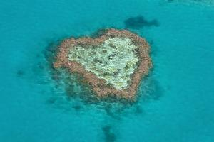 Aerial of the Whit Sunday Islands, Queensland, Australia, Pacific by Michael Runkel