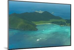 Aerial of View Lord Howe Island, UNESCO World Heritage Site, Australia, Tasman Sea, Pacific by Michael Runkel