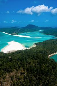 Aerial of Whitehaven in the Whit Sunday Islands, Queensland, Australia, Pacific by Michael Runkel
