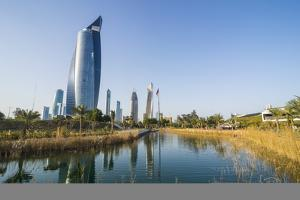 Al Hamra tower and the Al Shaheed Park, Kuwait City, Kuwait, Middle East by Michael Runkel