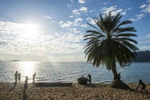 Backlight of Cape Malcear, Lake Malawi, Malawi, Africa by Michael Runkel