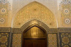 Beautiful ornamented door inside the Grand Mosque, Kuwait City, Kuwait, Middle East by Michael Runkel