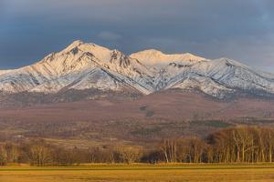 Beautiful snowcapped mountain near the Shiretoko National Park, Hokkaido, Japan, Asia by Michael Runkel