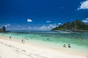 Beautiful white sand beach on Monuriki Island (Cast Away Island), Mamanuca Islands, Fiji, South Pac by Michael Runkel