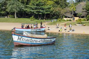 Boats on Lake Malawi, Cape Maclear, Malawi, Africa by Michael Runkel