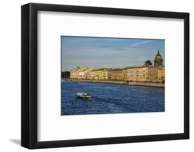 City Center of St. Petersburg from the Neva River at Sunset