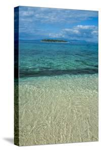 Clear Waters on Beachcomber Island with a Little Islet in the Background, Mamanucas Islands, Fiji by Michael Runkel