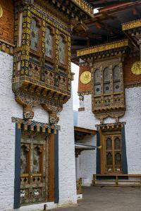 Close-Up from the Woodwork in the Dzong or Castle of Punakha, Bhutan, Asia by Michael Runkel