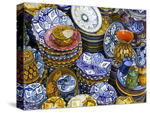 Colourful Ceramics For Sale, Safi, Morocco, North Africa, Africa by Michael Runkel