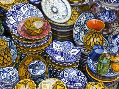Colourful Ceramics For Sale, Safi, Morocco, North Africa, Africa