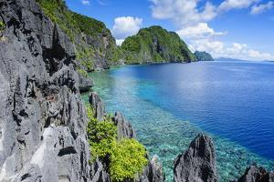 Crystal Clear Water in the Bacuit Archipelago, Palawan, Philippines, Southeast Asia, Asia by Michael Runkel