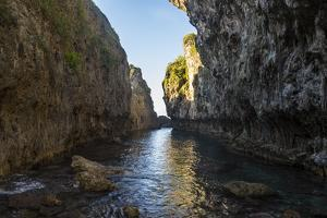 Crystall clear waters in the Matapa Chasm, Niue, South Pacific, Pacific by Michael Runkel