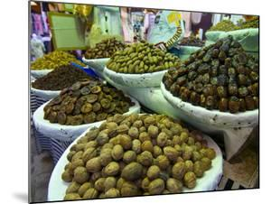 Dates, Walnuts and Figs For Sale in the Souk of the Old Medina of Fez, Morocco, North Africa by Michael Runkel