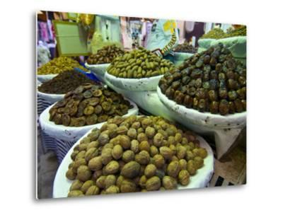 Dates, Walnuts and Figs For Sale in the Souk of the Old Medina of Fez, Morocco, North Africa