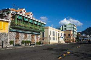 Downtown Roseau Capital of Dominica, West Indies, Caribbean, Central America by Michael Runkel