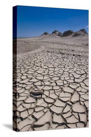 Drying Mud Stream Originating from a Mud Volcano, Qobustan, Azerbaijan