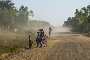 Dusty Road, Mount Mulanje, Malawi, Africa by Michael Runkel