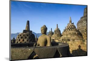 Early Morning Light at the Temple Complex of Borobodur, Java, Indonesia, Southeast Asia, Asia by Michael Runkel