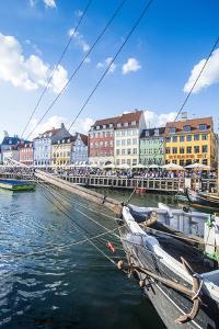 Fishing Boats in Nyhavn, 17th Century Waterfront, Copenhagen, Denmark, Scandinavia, Europe by Michael Runkel